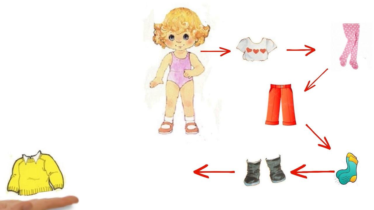 менее, алгоритм одевания куклы в картинках пожалуйста