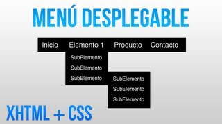Como hacer un menu desplegable con HTML y CSS Mp3