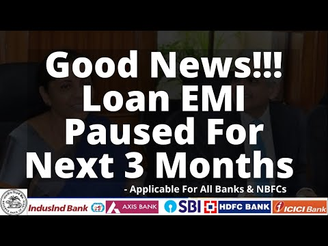 Good News!!! NO LOAN EMI FOR NEXT 3 MONTHS & It Will Not Hurt Your CREDIT SCORE - RBI 🔥🔥🔥