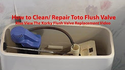 How to Clean / repair Toto Toilet FILL FLUSH valve SEE DESC for KORKY