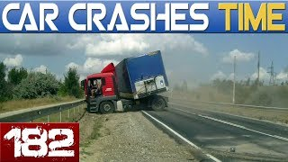 ROAD FAILS Compilation - BAD DRIVERS & INSTANT KARMA - BEST OF DASHCAMS #182