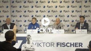 Se hele pressemødet med Viktor Fischer og Ståle Solbakken