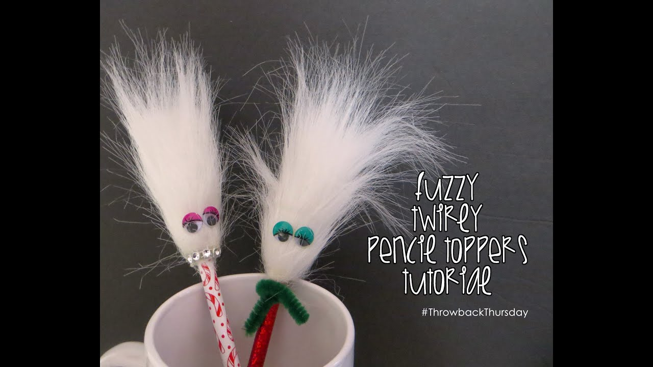 Retro crafts fuzzy pencil topper youtube for Furry craft