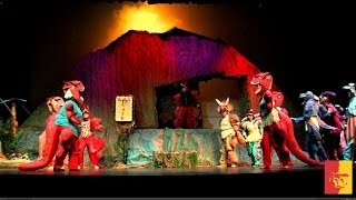 The Dinosaur Musical - creating a volcano