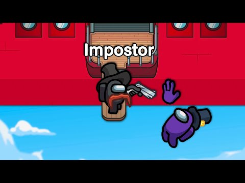 BEST AIRSHIP IMPOSTOR EVER in Among US - Henry Stickmin Airship Map