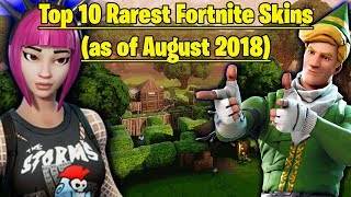 The Top 10 Rarest Skins in Fortnite Battle Royale (August 2018)