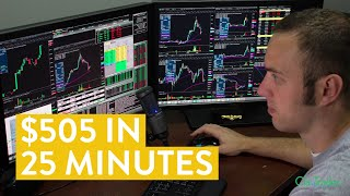 [LIVE] Day Trading | $505 in 25 Minutes (make money online)