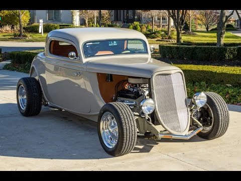1933 ford 3 window coupe street rod for sale youtube for 1933 ford three window coupe for sale