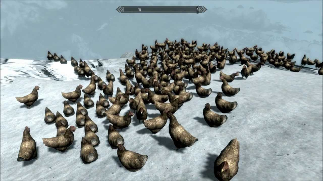 Skyrim Fus Ro Dah Chickens Of Cliff
