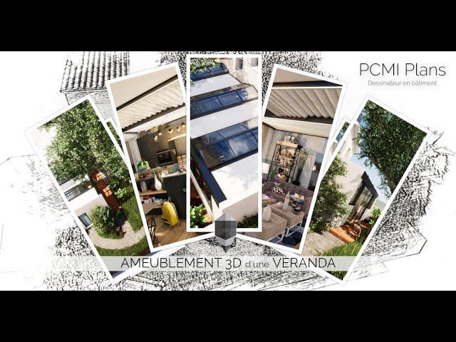 Modélisation 3D d'une Véranda | PCMI Plans