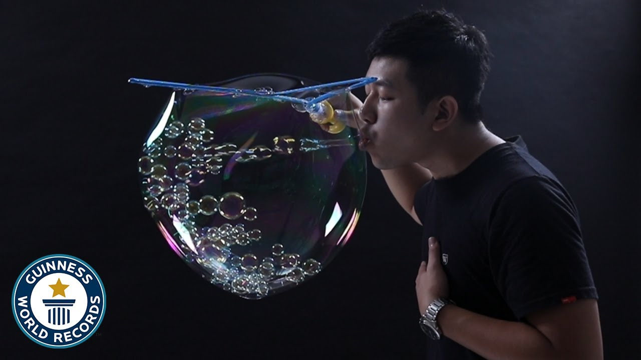 Most bubbles in a bubble - Guinness World Records