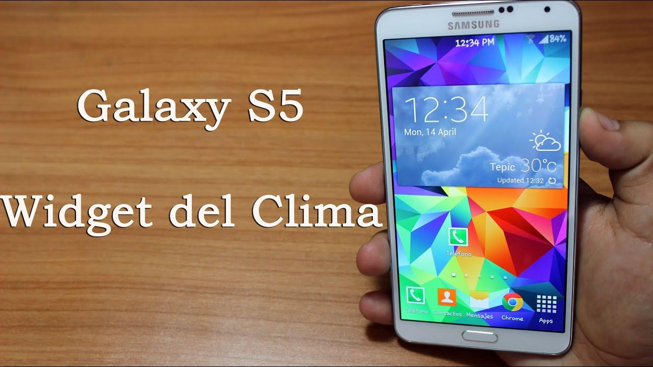 galaxy s5 widget de clima en cualquier android tu