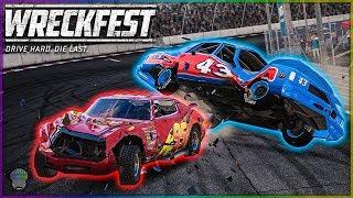 McQueen Madness! (Oval/Figure 8 Chaos!) | Wreckfest | NASCAR Legends Mod