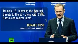 US under Trump among external threats to EU – council president Tusk