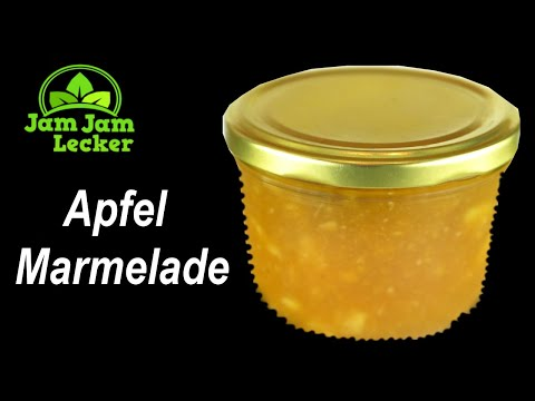 Apfel Marmelade Vanille | Fruchtaufstrich | Konfitüre | selbst gemacht, eingekocht
