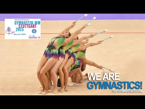 FULL REPLAY: 2015 Rhythmic Worlds, Stuttgart (GER) - Groups All-around - Part 1