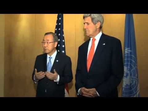 Kerry, Ban meet in Egypt to plea for peace in Gaza