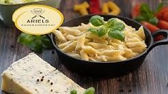 Nudeln alla Gorgonzola, Penne mit Gorgonzolasauce, Pasta, Nudeln, Gorgonzola, Gorgonzolasauce,