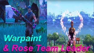Warpaint & Rose Team Leader Showcase! | *NEW* LEGENDARY SKINS | Fortnite Battle Royale