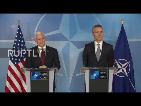Belgium: Pence stresses 'fair burden-sharing' between NATO allies in Brussels