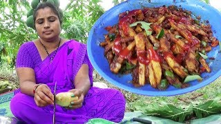Amazing Village Foods Cooking Masala French Fries Recipe | Aloo Finger Chips | Crispy Potato Chips