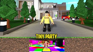 I Threw A TINY PARTY Under My Friends Home! (Roblox)