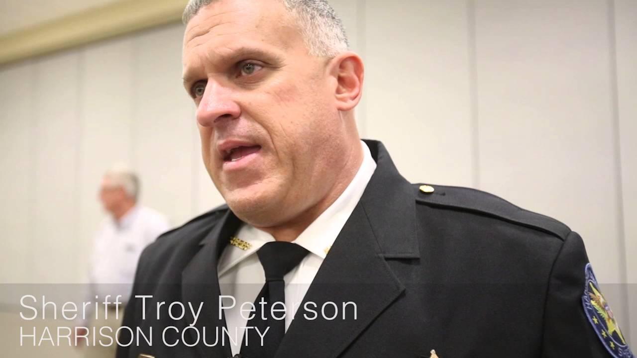 Harrison County Sheriff Troy Peterson swears in his agency