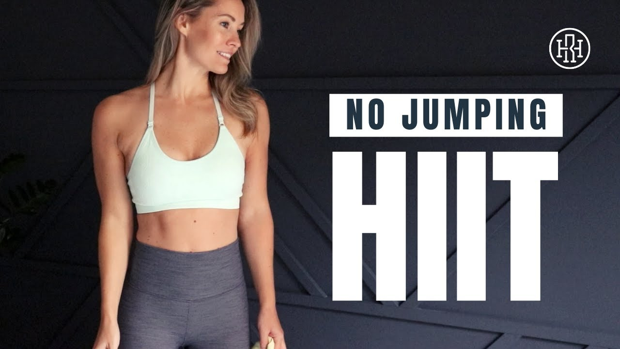 No Jumping HIIT Workout // With Dumbbells