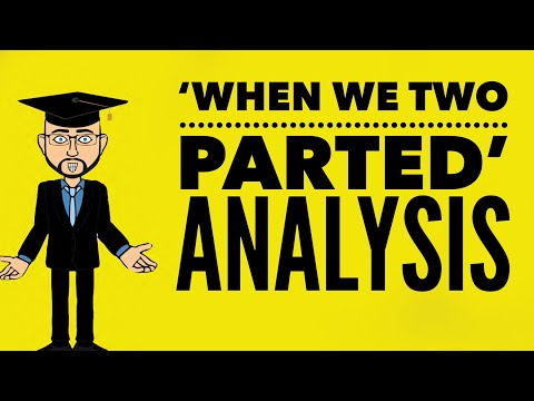 Lord Byron: 'When We Two Parted' Grade 9 Analysis