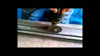 Repairing A Really Bad Sliding Glass Door Track