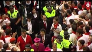 #SFk14 Denuncia de la corrupción ante UPN en la procesión de San Fermin