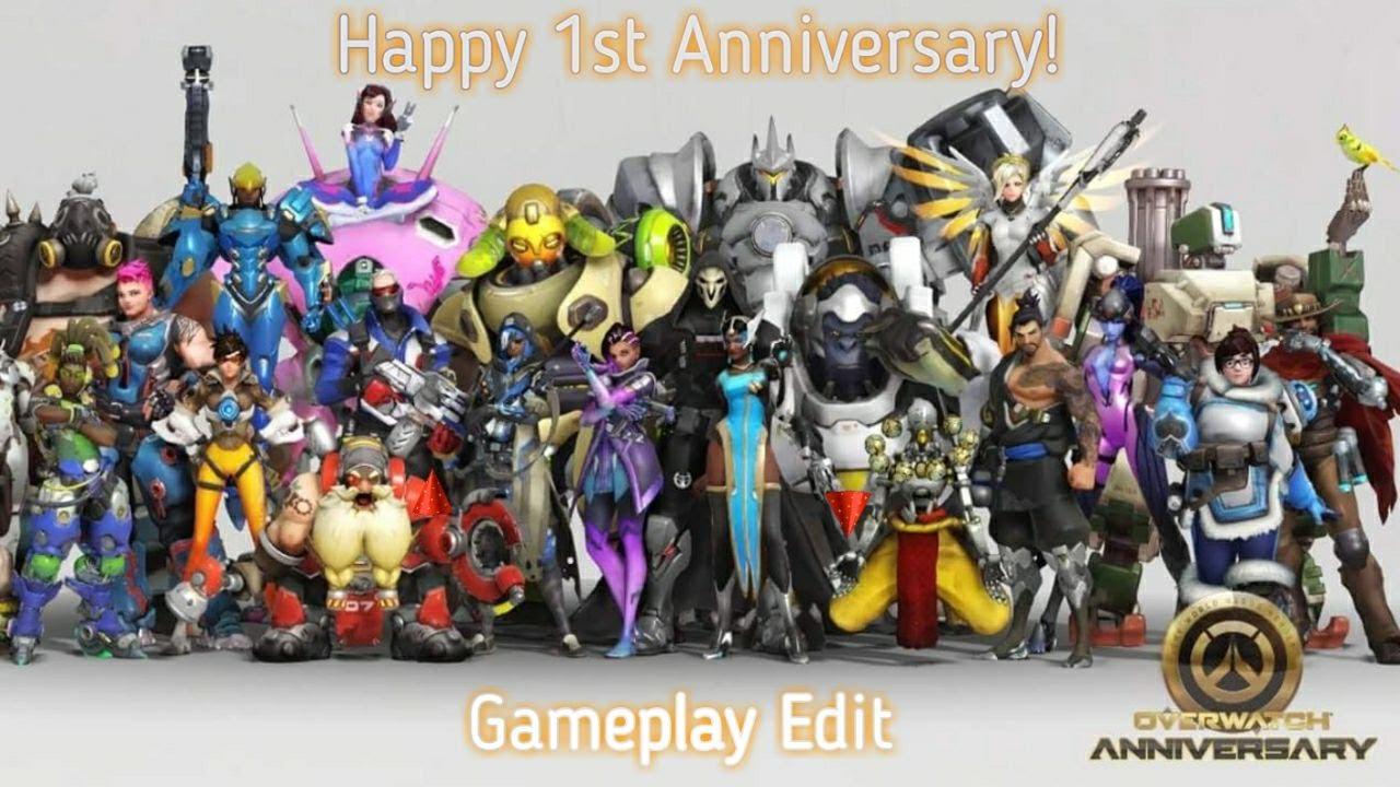 Happy 1st anniversary overwatch! gameplay edit youtube