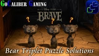 Disney Pixar's Brave: The Video Game Walkthrough - All Bear Triplets Puzzle Solutions thumbnail