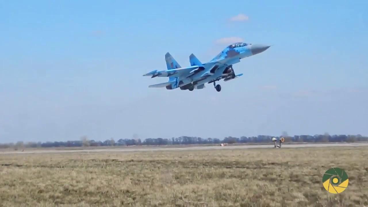 Tactical aviation drills in Poltava region