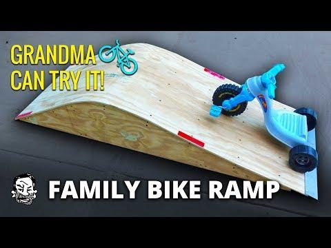 Building a Family Bike & Skate Ramp
