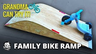 Building a Family Bike & Skate Ramp
