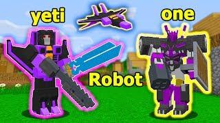 ĐẠI CHIẾN ROBOT BIẾN HÌNH ONE VÀ NOOB YETI TRỞ THÀNH ROBOT TRONG MINECRAFT