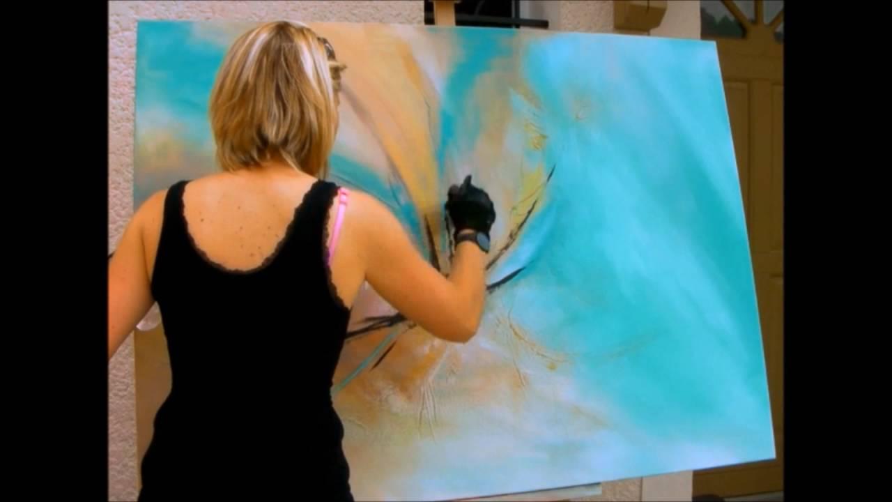 Great Peinture Abstraite Vido Hd Youtube Acrylique Shadingart Youtube With Comment  Faire De La Peinture