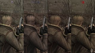 Resident Evil 4 - Switch Vs Ps4 Vs Wii Vs Gamecube Vs PS2 (Full Comparison)