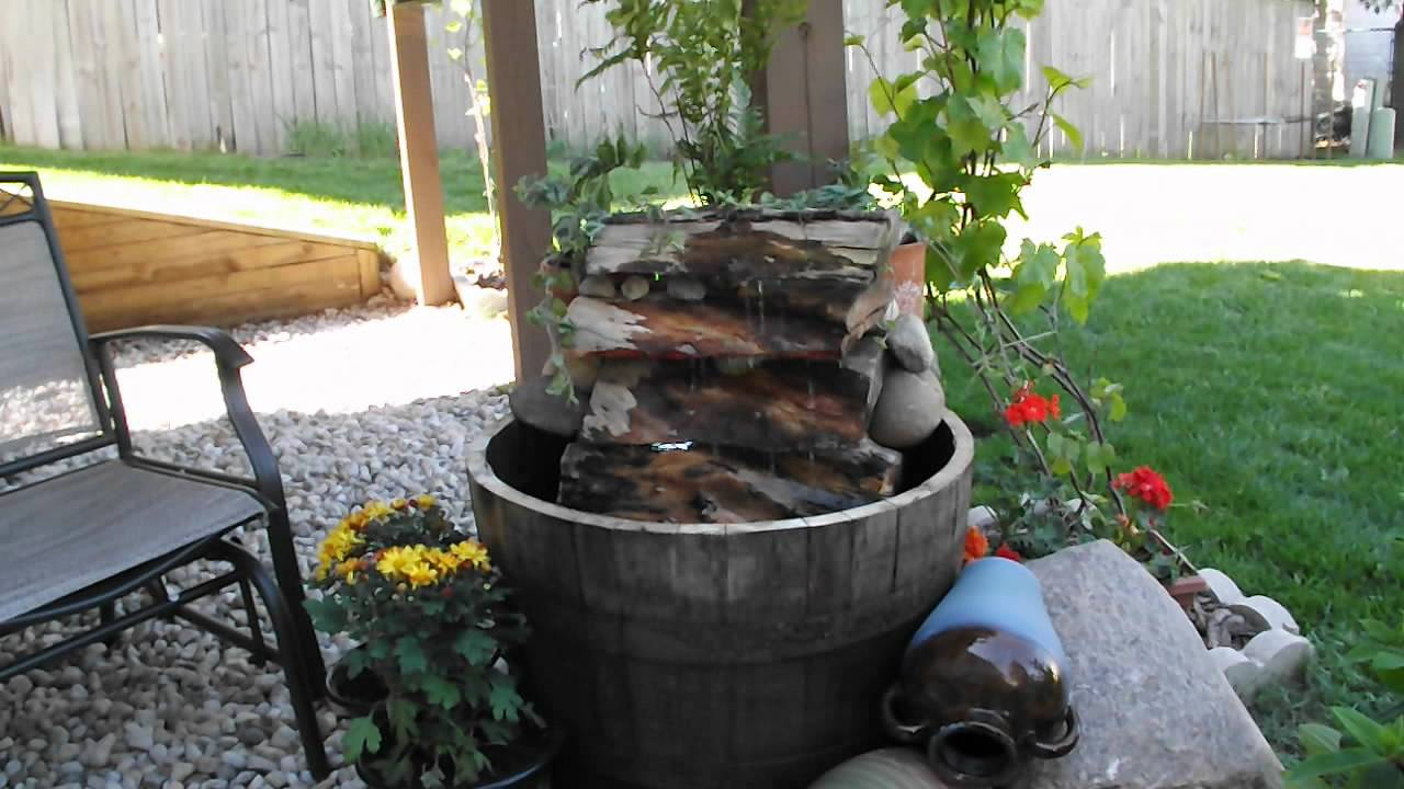 How To Make Half Barrel Fountain Ideas Youtube