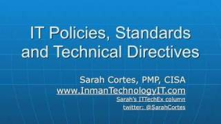 New COBIT and IT Policy Presentation video