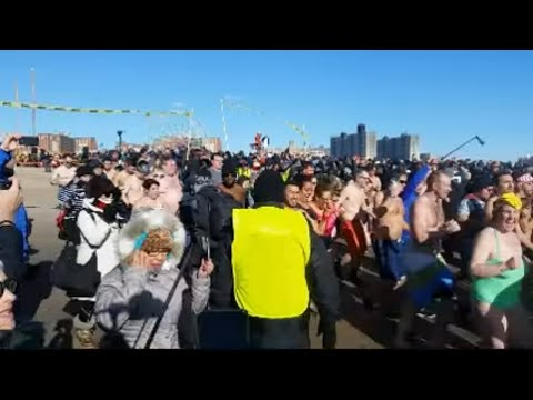 I'm Live at Coney Island  coney island polar bear plunge