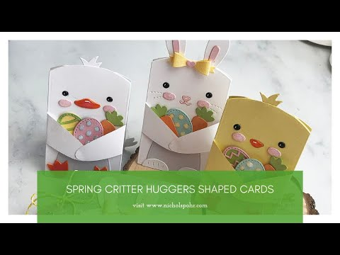 Spring Critter Huggers Shaped Cards (Lawn Fawn)