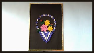 DIY Wall Decor Frame | Room Decoration Ideas | Simple Paper Crafts