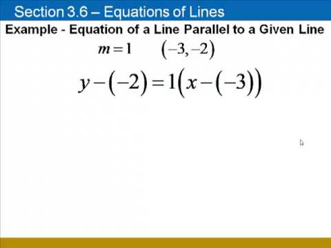 Equations Of Parallel Perpendicular Lines