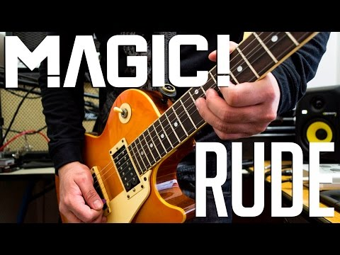 Magic! - Rude | electric guitar cover (playthrough & backing track)