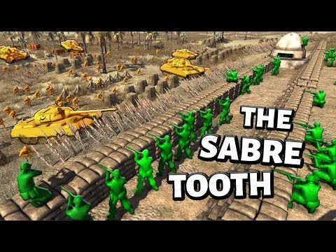 The Sabre-Tooth ! Epic Green Hill Defence - Download Army Men Strike !