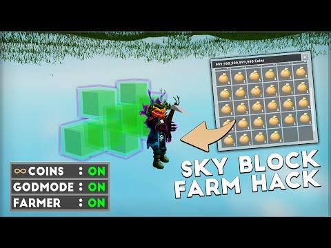 Roblox Sky Block Hack - Farmer, God Mode, Flight & MORE [GUI]
