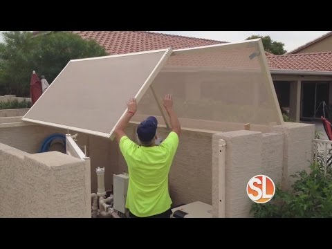 Sun Away Outdoor Shades Provides Shade For Your Pool Pump