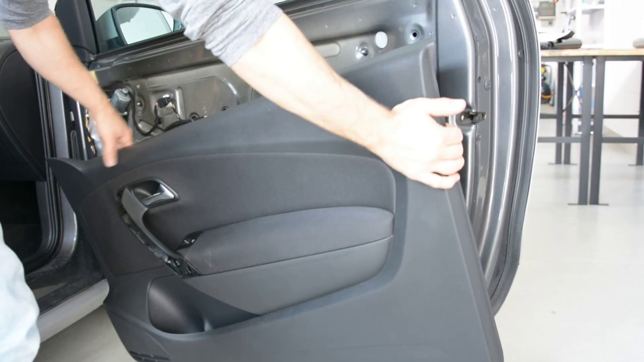 Door panel removal vw polo 6r - how to - YouTube